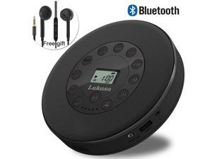Portable Bluetooth CD Player Built-in Speaker Stereo, Personal Walkman MP3 Players 2000mAh Rechargeable Compact Car Disc CD Music Player USB Play Anti-Shock Protection