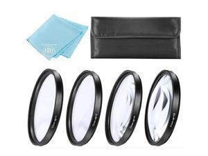 77mm Close-Up Filter Set (+1, 2, 4 and +10 Diopters) for Nikon COOLPIX P1000 16.7 Digital Camera