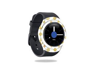 MightySkins Skin Compatible with Samsung Gear S2 Smart Watch wrap Cover Sticker Skins Gold Anchors
