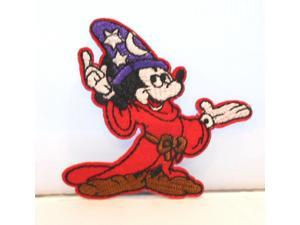 """Disneys Mickey Mouse Fantasia Wizard Character 3"""" Tall Embroidered Patch"""