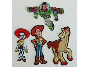 DISNEYS TOY STORY GROUP Of 4 Main Characters Embroidered Patch Set