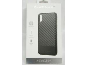 Platinum Carbon Fiber Case for iPhone XS Max - Black