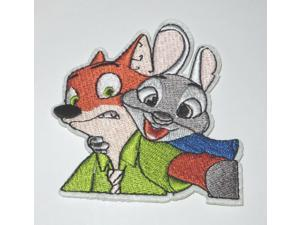"""Disneys Zootopia Lt. Judy & Nick Wilde Character Patch 3.5"""" Iron/Sewn On"""