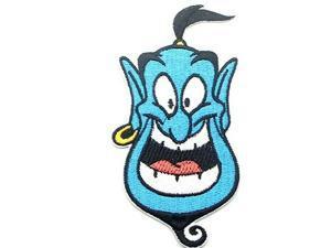 """Disneys Aladdin Movie GENIE FACE Iron/Sew On 4.7""""X 2.45""""  Patch"""