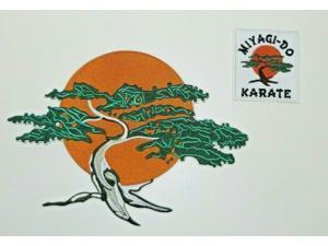 "Karate Kid MIYAGI-DO KARATE Embr. Iron On 10"" Jacket Patch & Shoulder Patch Set"