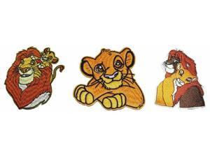 Lion King Simba & Nala Growing Up Embroidered Patch Set of 3