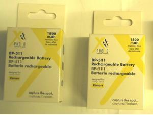 2X BP-508 BP-511 BP-511A BP-512 Batteries for CANON 5D 10D 20D 30D 40D 50D D30