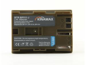 Kinamax 2000mAh BP-511 / BP-512 Replacement Battery for Canon EOS 10D, 20D,