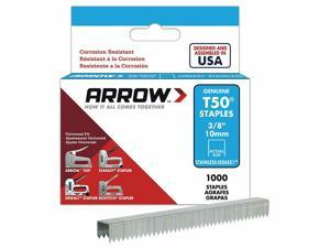 "Arrow Fastener 506SS1 T50 Staples 3/8"", Stainless Steel"