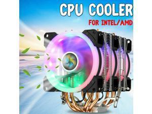 RGB Computer CPU Case Cooling Fan For Intel LGA 775/1150/1151/1155/1156/1366 AMD