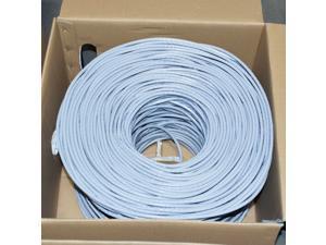 CAT6 1000FT UTP Cable 23AWG CCA Network Ethernet Bulk Wire LAN GRAY
