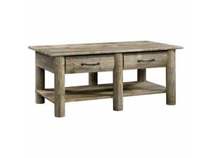 Sauder Boone Mountain Contemporary Wood Coffee Table in Rustic Cedar
