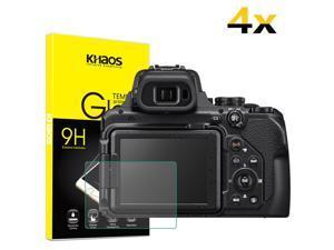 4X Khaos For Nikon COOLPIX P1000 Digital Camera Tempered Glass Screen Protector
