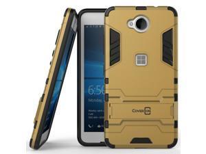for Microsoft Lumia 650 Phone Case Armor Kickstand Slim Hard Cover Gold