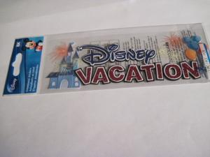 Scrapbooking Crafts Disney Stickers Vacation Title Castle Mouse Ear Balloons