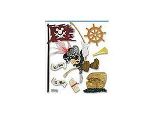 Scrapbooking Stickers Disney Mickey Mouse Pirate Flag Treasure Chest Ship Wheel
