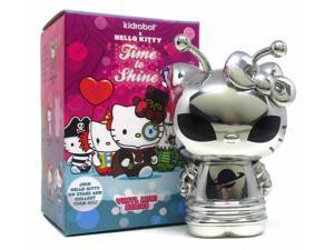 """Kidrobot HELLO KITTY TIME TO SHINE Mini Series SILVER ALIEN 1/48 CHASE 3"""" Vinyl"""