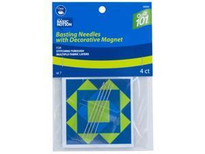 Dritz Basting Needles Size 7 with Decorative Magnet Long Fine Needles 4ct