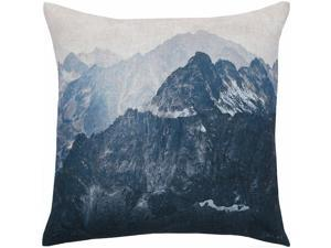 Renwil New Traditional Irvine Malaga Throw Pillow in Brown and Gray