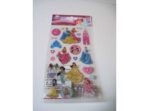 Scrapbooking Stickers Crafts Disney Princesses Castle Cinderella Belle Beauty