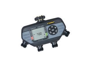 Melnor 73280 Digital Water Electronic Hose Timer, 4 Zone, Black/Gray 4-Zone