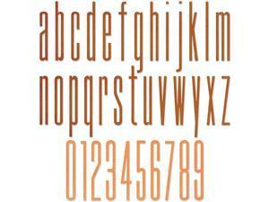 Sizzix Thinlits Die 665207 Alphanumeric Stretch Lower & Numbers by Tim Holtz 36