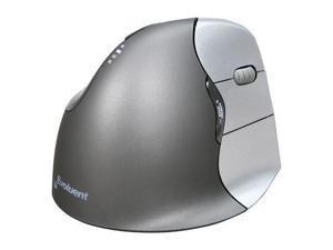 Evoluent VM4R Silver/Black 1 x Wheel USB Wired Laser Vertical Mouse