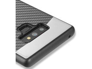 Samsung Galaxy Note 9 - Hard TPU Rubber Magnetic Black Carbon Fiber Case Cover