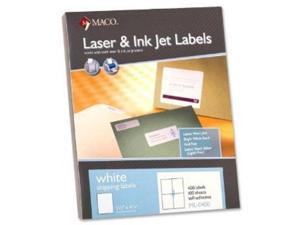 Maco All-Purpose Labels, 5-1/2 x 4-1/4 Inches, White,  2,000/Box  ML-0400