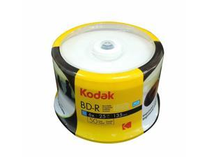 50-PK KODAK Brand 6X White Inkjet Hub Printable Blu-Ray BD-R Blank Disc 25GB