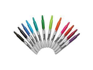 Sharpie Retractable Permanent Markers Fine Point Asstd. 12/Set 32707