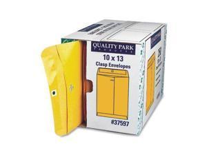 """Quality Park Clasp Envelopes With Dispenser - Clasp - #97 [10"""" X 13""""] (qua37597)"""