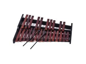 25 Note Wooden Xylophone Percussion Educational Gift with 2 Mallets Q4Z4