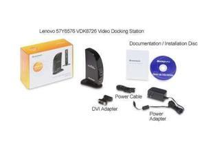 New Lenovo USB Video Docking Station 2.0 Port Universal w/DVI-I output VDK8726