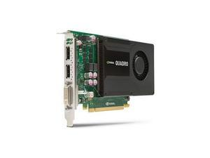 Hewlett Packard HP C2J93AT NVIDIA Quadro K2000 2GB GDDR5 PCI Express DisplayPort DVI Graphic Card