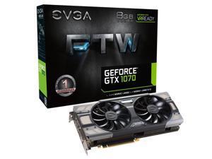 EVGA GeForce GTX 1070 FTW GAMING ACX 3.0, 08G-P4-6276-KR, 8GB GDDR5, RGB LED, 10CM FAN, 10 Power Phases, Double BIOS, DX