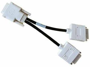 DMS-59 TO DUAL DVI-I Y SPLITTER ADAPTER VIDEO CABLE 338285-009 41R3403 31028991