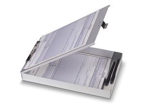 """Oic Aluminum Storage Clipboard - 1"""" Capacity - 1 Compartment - 8.50"""" X 12"""" -"""