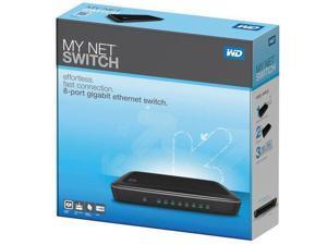 Western Digital My Net WDBJVC0000NCH-NESN 8-Port Gigabit Network Switch with QoS