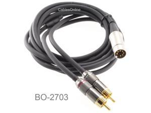 CablesOnline 9ft 7-Pin Din Plug to 2RCA Plug BO Audio Cable