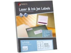 """Maco ML-0600 Shipping Labels  3.3"""" x 4"""" --6 to The Page 3,000 Labels"""