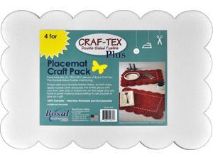 """Bosal Craf-tex Plus Double-sided Fusible Placemat Craft Pack-12.5/""""x18.25/"""" 4//pkg"""