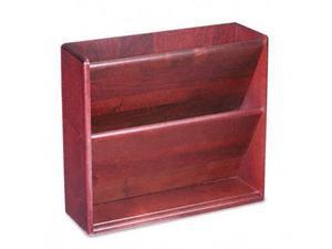 Carver 09623 Hardwood Double Wall File- Letter- 2 Pocket- Mahogany