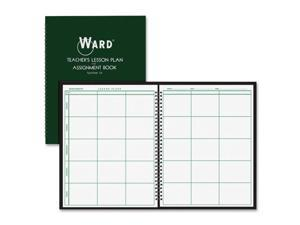 Ward Lesson Plan Book, Wirebound, 6 Class Periods/Day, 100 Pages, Green