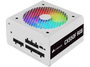 Corsair CX550F RGB, 550 Watt, 80 Plus Bronze, Fully Modular RGB White Power Supply    CP-9020216-CN