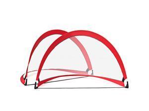 Two 4ft Pop Up Soccer Goal Net Set Portable Foldable Training Football Net W/Bag