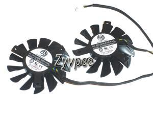 Twins PLD08010S12HH 12V 0.35A 4 wires 4 pins crooked blade-top vga fans for MSI GTX570 R6850 GTX460 HD7850 R6790 7950