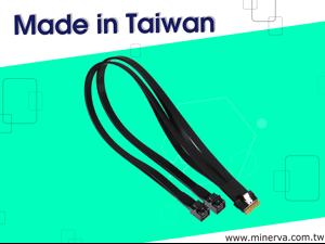 Slimline SAS (SFF-8654) 8-Lane to Mini SAS HD (SFF-8643) 4-Lane x2 Y Cable