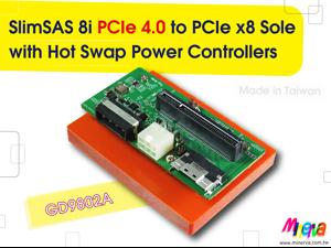 SlimSAS 8i PCIe 4.0 to PCIe x8 Slot Adapter for Broadcom HBA 9500-8i