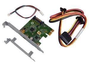 HP USB 3.1 TypeCx1 PCIe x1 Card Kit 821128-001 Hi368-1 LP bracket and Cable